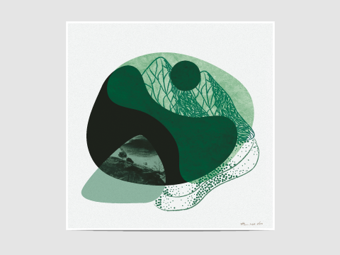 "Monochrome green - ""Monochrome green"" is part of my new collection of limited edition prints entitled ""Monochrome"". Limited edition of 50. The print is signed, dated and numbered with a pencil on the bottom right corner of the print."