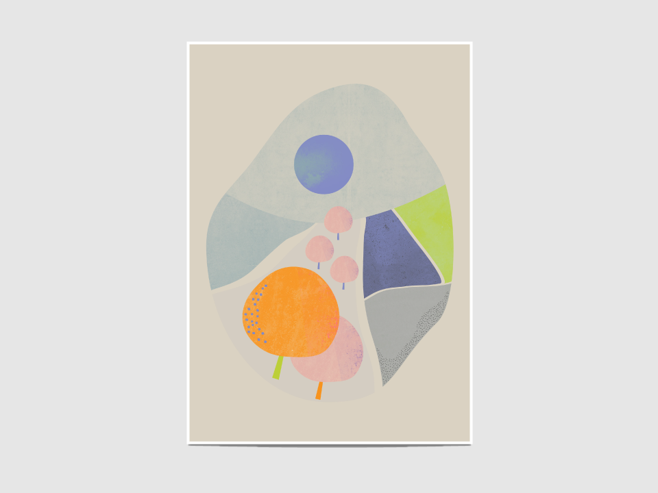 """Orchard 3 - The """"Orchard 3"""" print is inspired by the Scandinavian design.  It is an open edition print, not signed. If you would like my signature on your print, please tell me so."""
